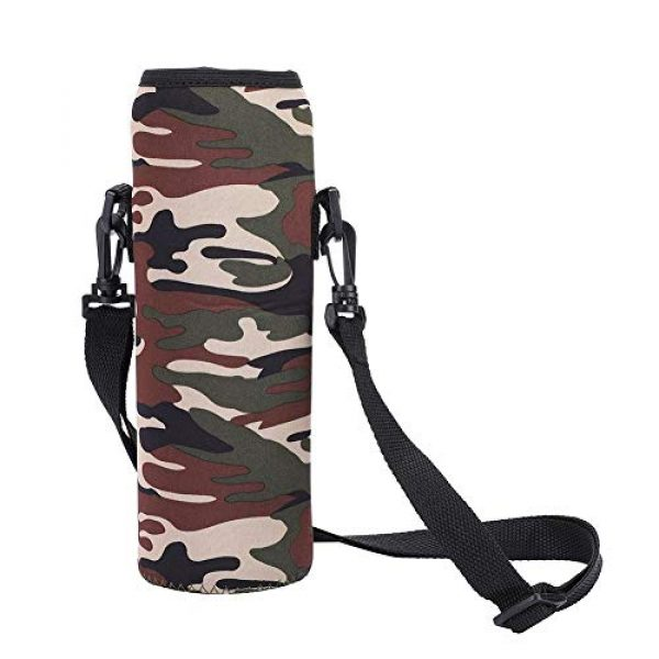 Qioni Tactical Pouch 2 Qioni Scald-Proof Case with Strap Water Bottle Bag, Water Bottle Sling Bag Water Bottle Case, Thermal Holder Bag for Outdoor Use Sports Camping Hiking