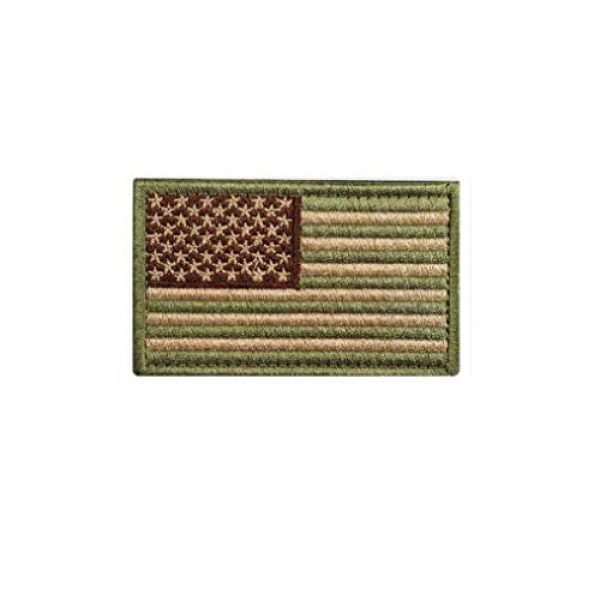 Chien Airsoft Morale Patch 2 Chien Tactical Morale Embroidery Patch Funny Military Patch USA Flag Full Embroidered Appliques for Caps Bags Vests Military Uniforms (2 Pieces Multitan(USA+in GOD WE Trust))