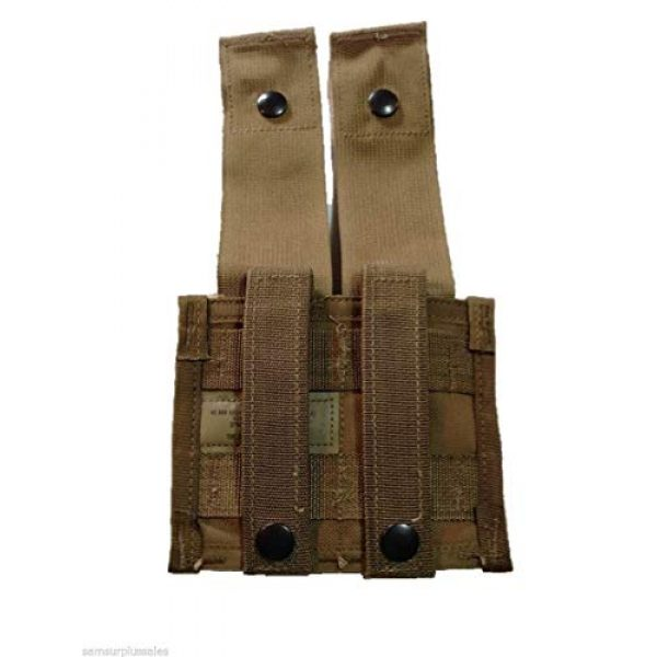 Airsoft Tactical Pouch 3 AirSoft Military Double 40MM HE High Explosive Grenade MOLLE Pouch Coyote