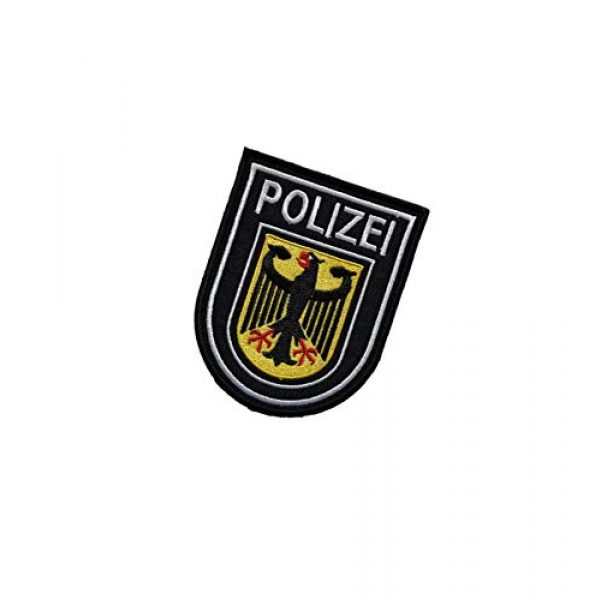 Embroidery Patch Airsoft Morale Patch 3 Germany Polizei Military Hook Loop Tactics Morale Embroidered Patch