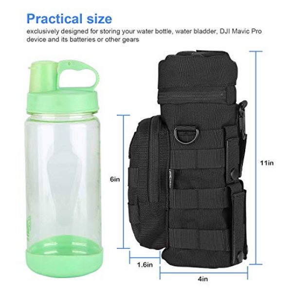 ProCase Tactical Pouch 7 ProCase Tactical Molle Water Bottle Pouch Bundle with Water Bottle Pouch with Extra Accessory Pouch and Detachable Shoulder Strap