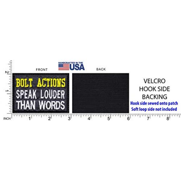 Tactical Patch Works Airsoft Morale Patch 5 Bolt Actions Speak Louder Than Words Patch