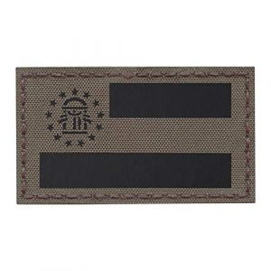 Tactical Freaky Airsoft Morale Patch 1 Ranger Green IR Georgia State Flag 2x3.5 Infrared IFF Tactical Morale Hook-and-Loop Patch