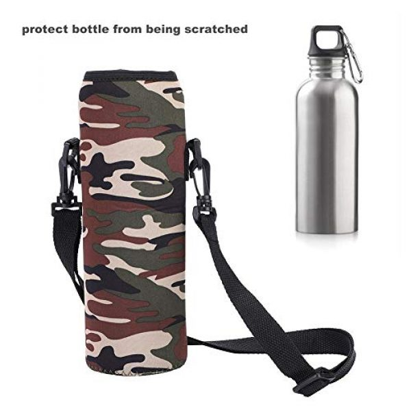 Plyisty Tactical Pouch 5 Plyisty Water Bottle Case, Cover Sleeve Thermal Holder Bag Scald-Proof Case Portable Water Bottle Sleeve, for Sports Outdoor Use
