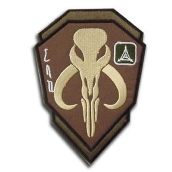 Embroidered Patch Airsoft Morale Patch 2 2pc Mandalorian Skull Star Wars Boba Fetter 3D Tactical Patch Military Embroidered Morale Tags Badge Embroidered Patch DIY Applique Shoulder Patch Embroidery Gift Patch