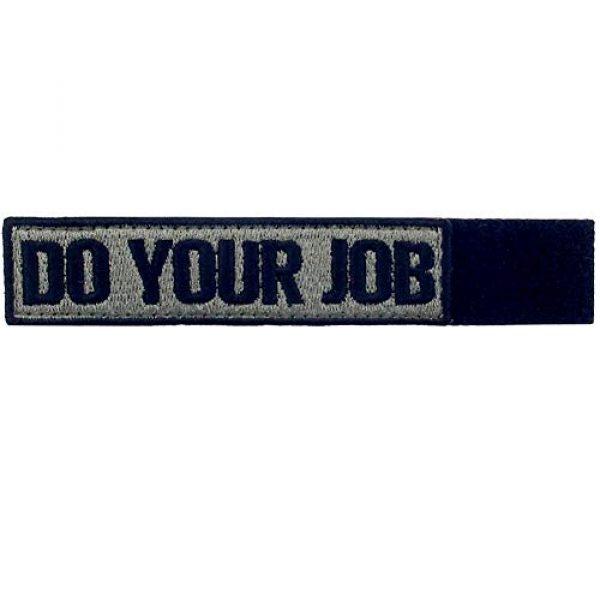 EmbTao Airsoft Morale Patch 5 Do Your Job Embroidered Patch Tactical Morale Applique Fastener Hook & Loop Emblem, Olive & Black
