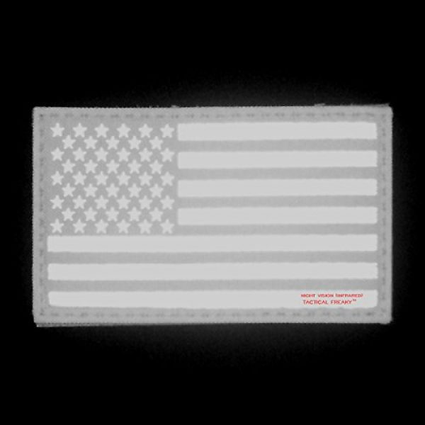 Tactical Freaky Airsoft Morale Patch 5 Big 3x5 Multicam Infrared IR USA American Flag IFF Tactical Morale Touch Fastener Patch