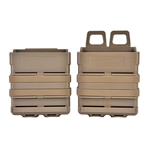VGEBY Tactical Pouch 1 2Pcs Tactical Magazine Pouch Bag, Plastic Clip Mags Holder Set Quick Pull Box for Molle System Vest