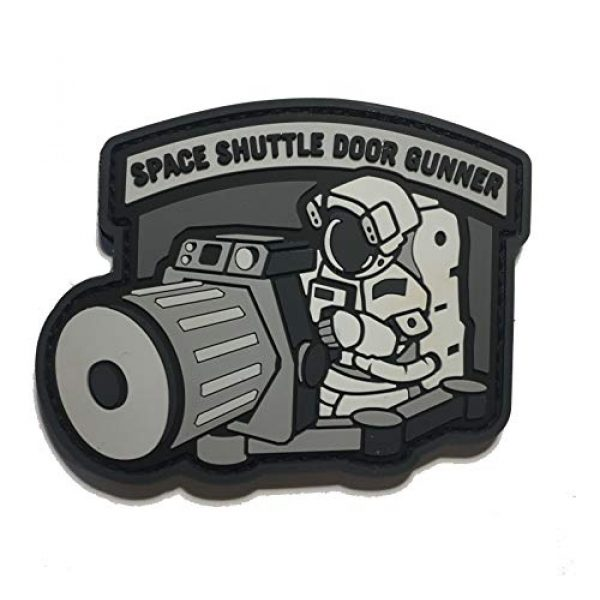 Empire Tactical USA Airsoft Morale Patch 1 The PVC/Rubber Tactical Space Shuttle Door Gunner Patch Combat Army Morale (Hook/Loop) Patch