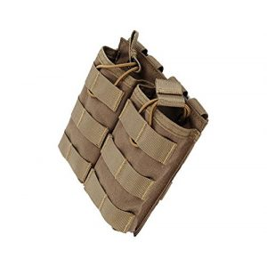 HFDA Tactical Pouch 1 HFDA M4 M16 AR15 Magazine Pouch - Open Top Mag Holder - Double Airsoft MOLLE Mag Pouch