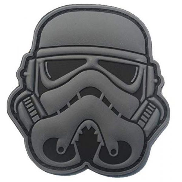 Tactical PVC Patch Airsoft Morale Patch 1 Star Wars Clone Soldier Storm Trooper Stormtrooper Morale Military Patch 3D PVC Rubber Tactical Rubber Hook Patch (Gray)