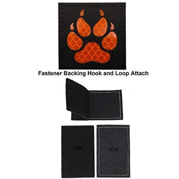 APBVIHL Airsoft Morale Patch 4 Reflective Infrared IR K9 Dog Handler Paw K-9 2x2 Tactical Morale Hook and Loop Fastener Patches