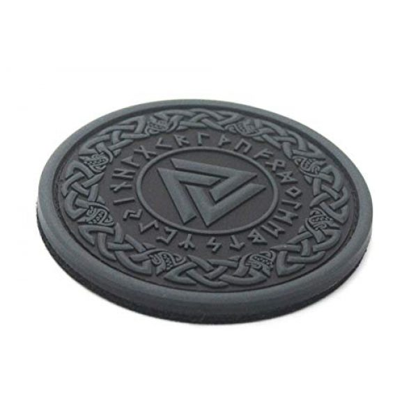 King Kong Somersault Airsoft Morale Patch 2 Viking Odin Valknut Morale Tactical PVC Rubber Patch