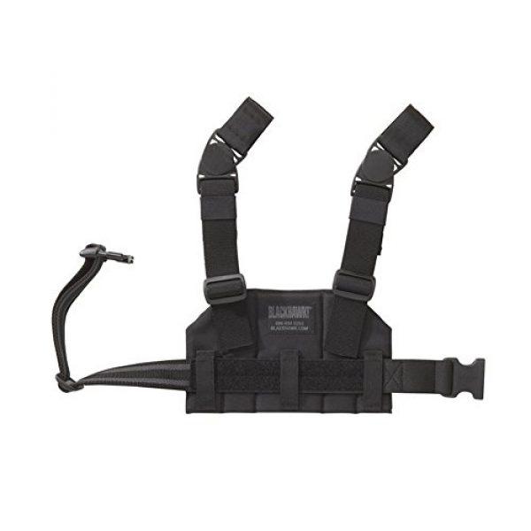 BLACKHAWK Tactical Pouch 2 Compact Strike Drop Leg Platform 3X6X4 Black