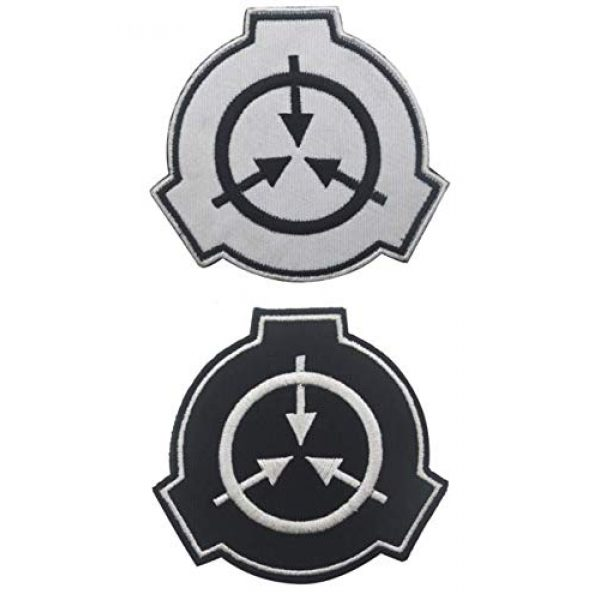 Embroidered Patch Airsoft Morale Patch 1 2pc Special Containment Procedures Foundation SCP Foundation Logo 3D Tactical Patch Military Embroidered Morale Tags Badge Embroidered Patch DIY Applique Shoulder Patch Embroidery Gift Patch