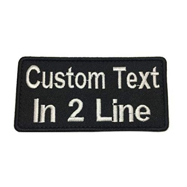 Lan Stang Airsoft Morale Patch 1 Lanstang Custom 2 Lines Name Tape with Hook Fastener Backing Personalized Tactical Biker Patch