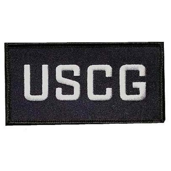 Embroidery Patch Airsoft Morale Patch 1 USCG Military Hook Loop Tactics Morale Embroidered Patch