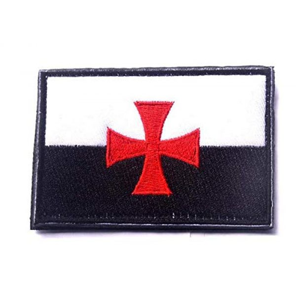 Embroidered Patch Airsoft Morale Patch 1 Knights Templar Teutonic Knights Cross 3D Tactical Patch Military Embroidered Morale Tags Badge Embroidered Patch DIY Applique Shoulder Patch Embroidery Gift Patch