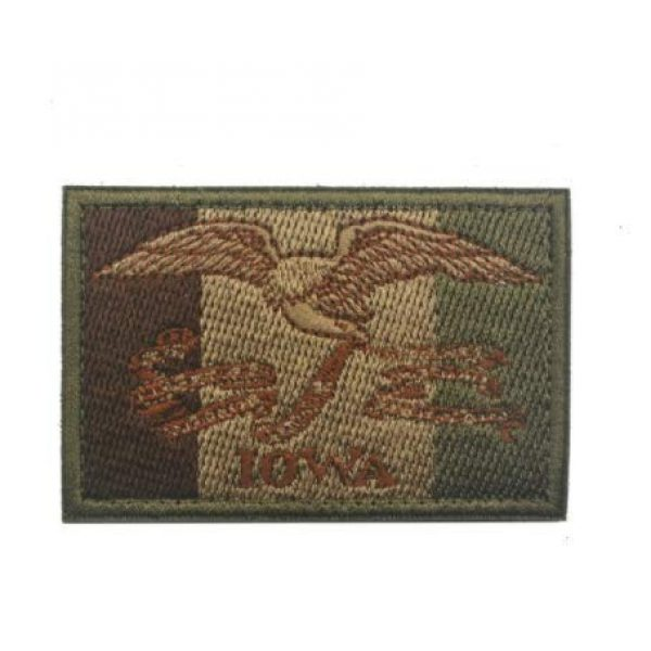 Tactical Embroidery Patch Airsoft Morale Patch 1 State Flag of Iowa Embroidery Patch Military Tactical Morale Patch Badges Emblem Applique Hook Patches for Clothes Backpack Accessories
