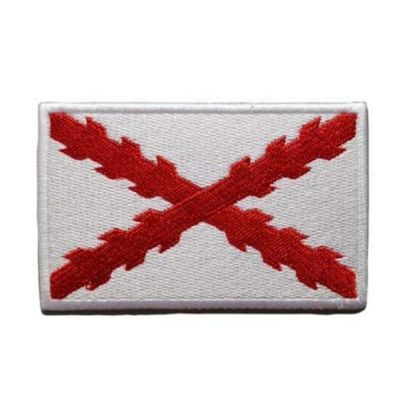 Tactical Embroidery Patch Airsoft Morale Patch 1 Spain Spanish National Royal Tercios Flag of Cross of Burgundy Embroidery Patch Military Tactical Morale Patch Badges Emblem Applique Hook Patches for Clothes Backpack Accessories