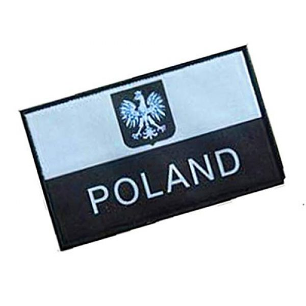 Fine Print Patch Airsoft Morale Patch 2 Polish Poland Flag Poland Eagle Military Hook Loop Tactics Morale Patch