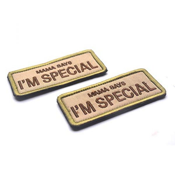 CREATOR Airsoft Morale Patch 5 Mama Says I'm Special Tactical Patch Military Embroidered Hook & Loop Patch for Men, Children and Pets