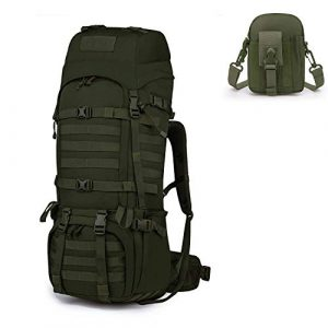 Mardingtop Tactical Backpack 1 Mardingtop Bundle Items: 65L Molle Hiking Tactical Backpack Army Green