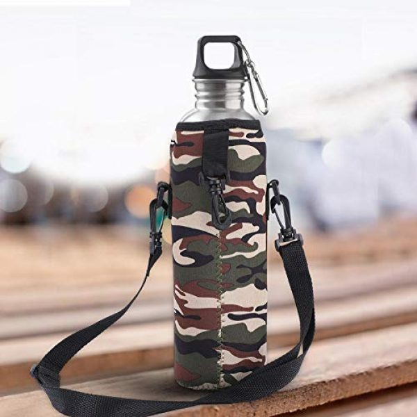 Aufee Tactical Pouch 7 Aufee Thermal Holder Bag Water Bottle Case, Portable Water Bottle Sling Bag Water Bottle Bag, Scald-Proof Case Camping for Sports Outdoor Use Hiking
