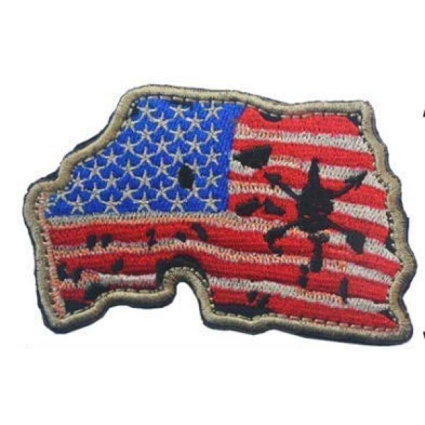 Tactical Embroidery Patch Airsoft Morale Patch 1 United States Map with US Flag Embroidery Patch Military Tactical Morale Patch Badges Emblem Applique Hook Patches for Clothes Backpack Accessories