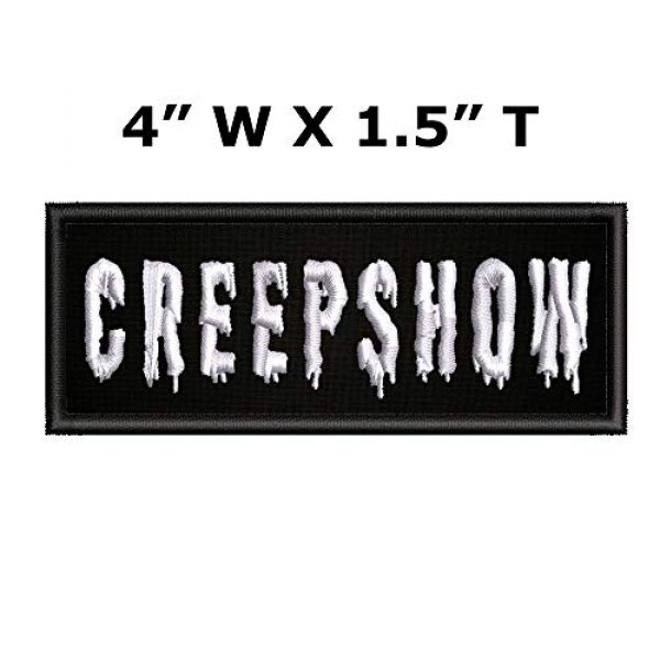 """Appalachian Spirit Airsoft Morale Patch 2 Creepshow Horror Movies - 4"""" W x 1.5"""" T - Embroidered DIY Iron on or Sew-on Decorative Patch Badge Emblem Classic Retro Campy Cult Creatures Monster Vault Series Applique"""