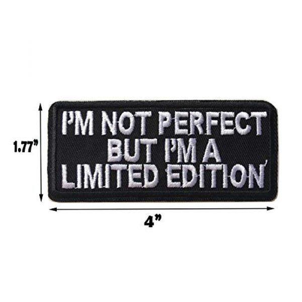Hng Kiang Hu Airsoft Morale Patch 2 I'm Not Perfect But I'm A Limited Edition Embroidered Iron On Sew On Morale Funny Patch