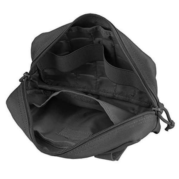 AMYIPO Tactical Pouch 2 AMYIPO Equipment Multi-Purpose Tactical Molle Admin Pouch EDC Utility Tools Bag Utility Pouches Molle Attachment Military Modular Attachment Small Pouch
