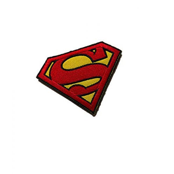 Embroidery Patch Airsoft Morale Patch 2 Superman Military Hook Loop Tactics Morale Embroidered Patch