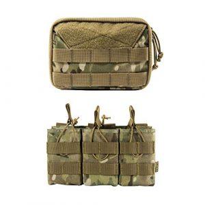 OneTigris Tactical Pouch 1 OneTigris Admin Pouch & Triple Mag Pouch (Multicam)