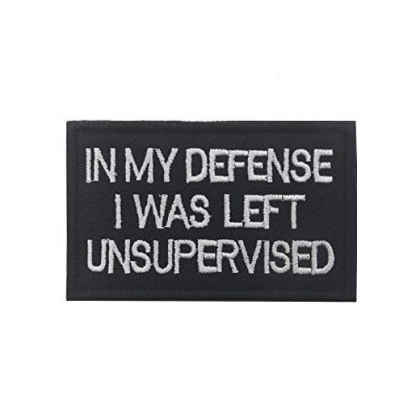 Ansellf Airsoft Morale Patch 3 in My Defense I was Left Unsupervised Patch,Tactical Military Army Gear,Tactical Combat Bagde Military Hook Embroidered Patch Set Hook/Loop Backing