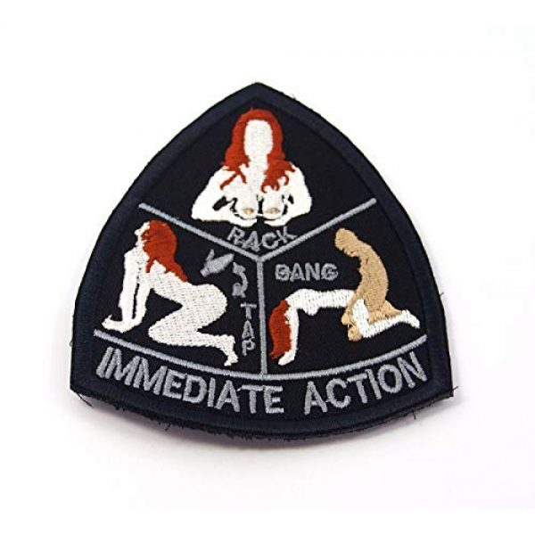 DREAM ARMY Airsoft Morale Patch 1 Mil-Spec Monkey IMMEDIATE ACTION morale patch hook backing tap rack bang
