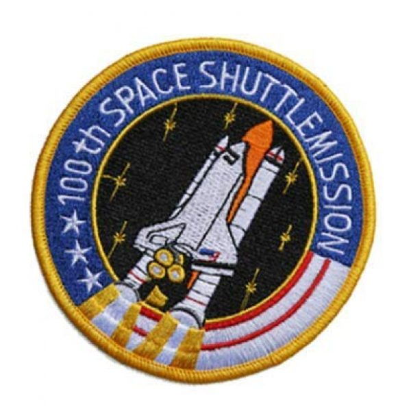 Tactical Embroidery Patch Airsoft Morale Patch 1 NASA 100th Space Shuttle Mission Embroidery Patch Military Tactical Morale Patch Badges Emblem Applique Hook Patches for Clothes Backpack Accessories