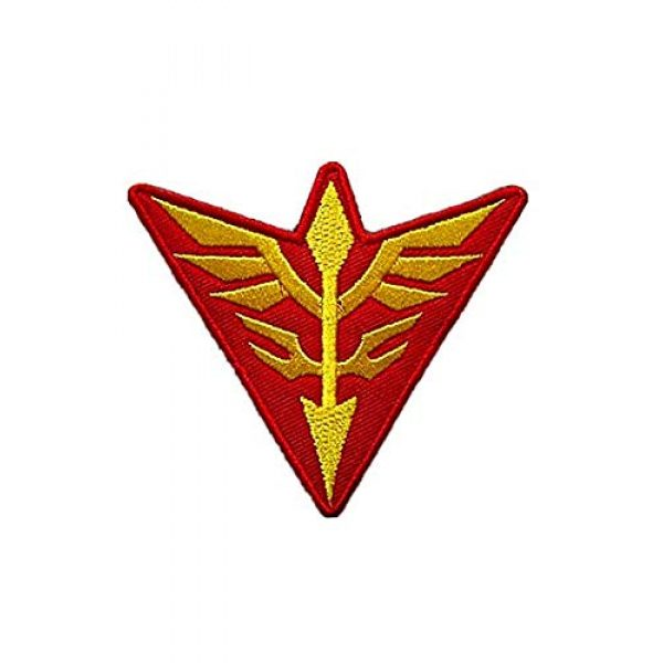 Embroidery Patch Airsoft Morale Patch 3 2 Pieces Mobile Suit Gundam -Zeon Military Hook Loop Tactics Morale Embroidered Patch (color3)
