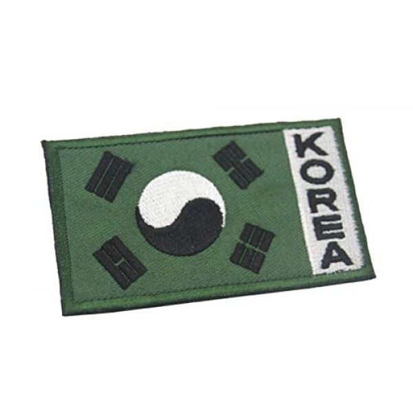 Tactical Embroidery Patch Airsoft Morale Patch 1 Korea Flag Embroidery Patch Military Tactical Morale Patch Badges Emblem Applique Hook Patches for Clothes Backpack Accessories