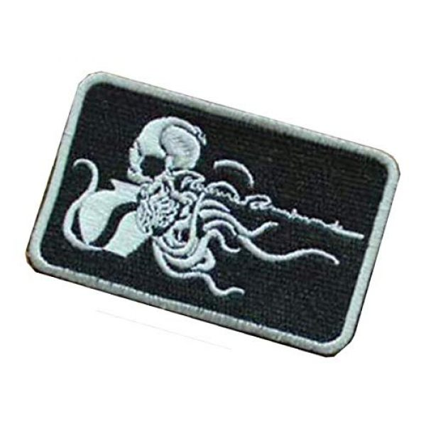 Embroidery Patch Airsoft Morale Patch 3 Metal Gear Solid Octopus Military Hook Loop Tactics Morale Embroidered Patch