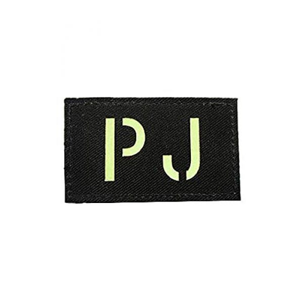Embroidery Patch Airsoft Morale Patch 1 Pararescue Jumpers PJ Glow in The Dark Military Hook Loop Tactics Morale Patch