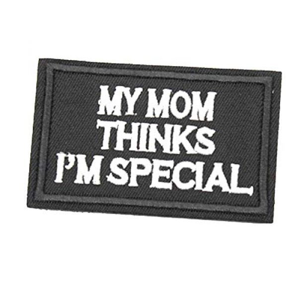 ZHDTW Airsoft Morale Patch 1 ZHDTW Words My Mom Thinks I'm Special Embroidered Tactical Patches with Hook and Loop (DT-022)