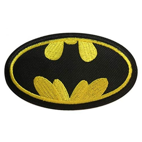 Yoyoking Airsoft Morale Patch 1 Yoyoking Super Hero Black/Yellow Logo Embroidered Iron on or Sew on Patch ( Size: 9.7cm5.7cm )