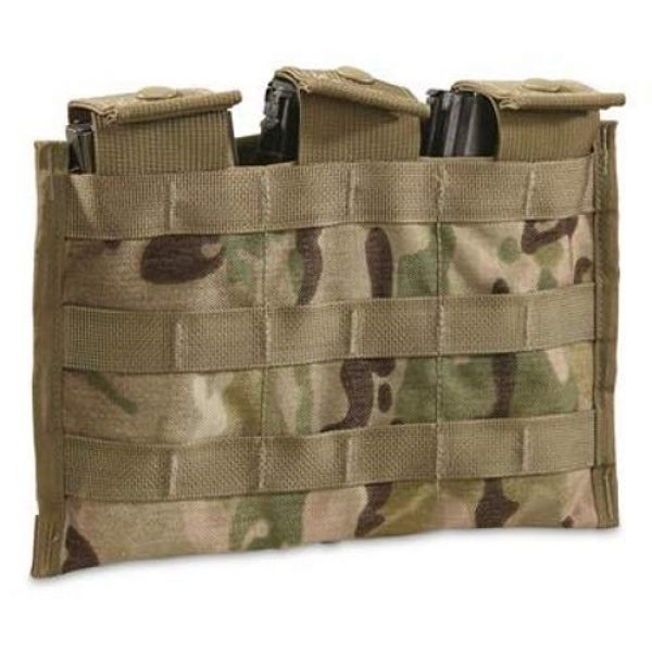 Army Surplus Warehouse Tactical Pouch 1 Army Surplus Warehouse Multi-Cam MOLLE II 3 Mag Pouch