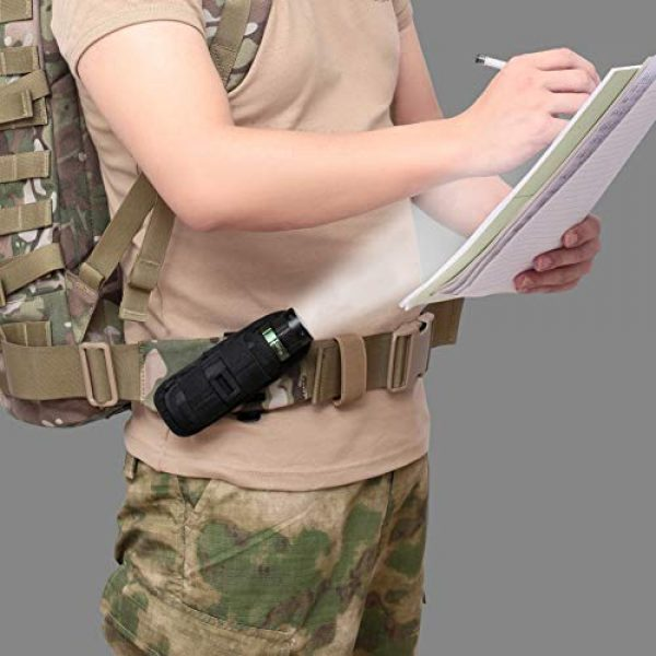 Qiaogeli Tactical Pouch 7 Qiaogeli Flashlight Pouch Holster Carry Case Holder with 360 Degrees Rotatable