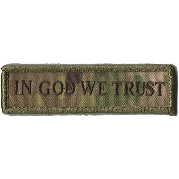 Gadsden and Culpeper Airsoft Morale Patch 1 MULTICAM Tactical Patch - God We Trust Morale