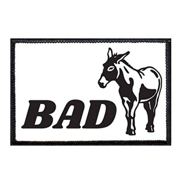P PULLPATCH Airsoft Morale Patch 1 Bad Ass Morale Patch | Hook and Loop Attach for Hats, Jeans, Vest, Coat | 2x3 in | by Pull Patch