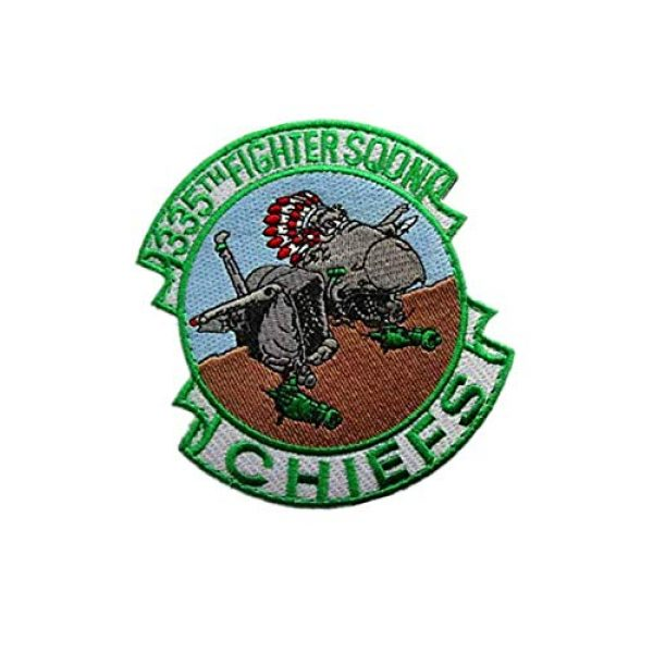 Embroidery Patch Airsoft Morale Patch 2 335th Tactical Fighter Squadron Chiefs Air Force Military Hook Loop Tactics Morale Embroidered Patch