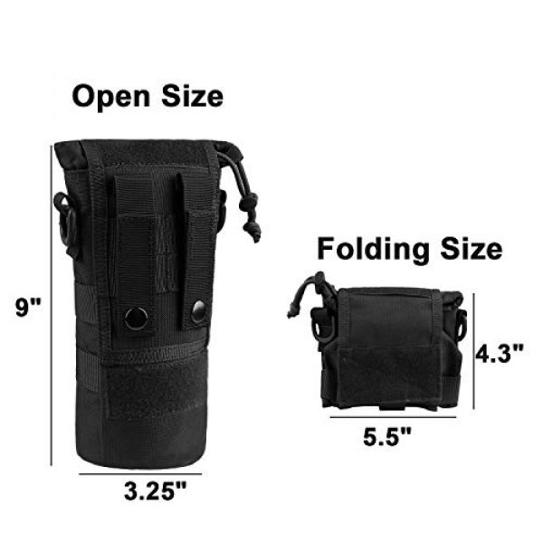 AMYIPO Tactical Pouch 2 AMYIPO Folding Water Bottle Pouch Molle Tactical Holder Storage Bag for 32oz Carrier