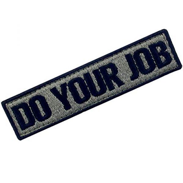 EmbTao Airsoft Morale Patch 3 Do Your Job Embroidered Patch Tactical Morale Applique Fastener Hook & Loop Emblem, Olive & Black